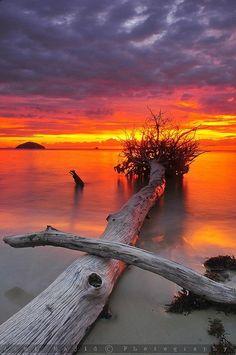 Sunset Borneo, Sabah, Malaysia