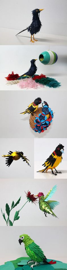 Intricate Paper Birds