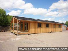 Example Build - Cedar Mobile Home Log Cabins - Self Build Timber Frames