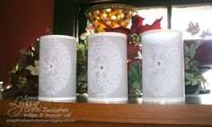 embossed vellum candle covers -- so cool!