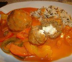 Rezept Gyrosbällchen in Metaxasoße von Kiwis Nest - Rezept der Kategorie Hauptgerichte mit Fleisch