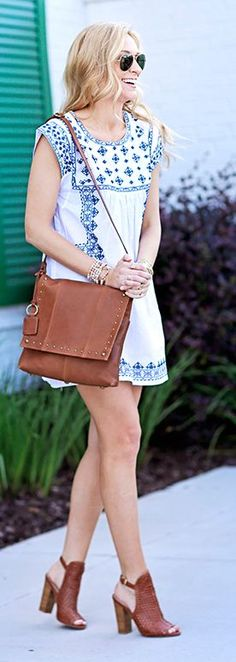 Embroidered Dress Summer Style