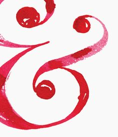 ampersand - esperluette Typography Love, Typography Inspiration, Graphic Design Typography, Scarlet, Rose, Hand Lettering, Symbols, Crafty, Floral