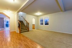 Additional living room and staircase. #RealEstateForSale #ForSaleRealEstate #HomesForSale #Ridgefield #RidgefieldWA #RidgefieldHomesForSale #RidgefieldWARealEstate #RealEstate #Washington #FrontDoorRealty #Auction #AuctionProperty