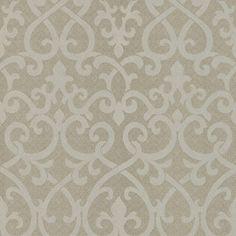 Brewster Home Fashions Serene Ironwork Damask Wallpaper in Gray