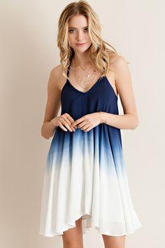 Ombre Tie-Dye Dress