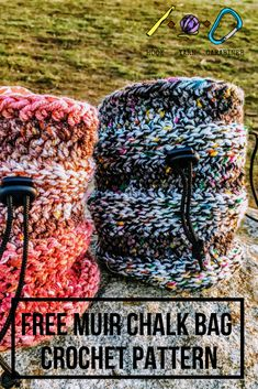 730cf2ac5cf FREE CROCHET CHALK BAG PATTERN  This uniquely ribbed chalk bag is much  simpler than it