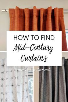 How To Find Mid Century Modern Curtains Mid Century Modern Curtains Mid Century Modern Decor Mid Century Modern Bedroom