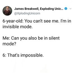 You Can't See Me, Funny Clean, 6 Year Old