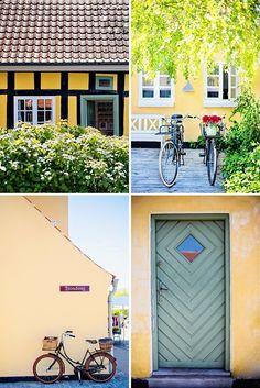 Yellow Houses in Skagen, Denmark http://christinagreve.com/online-lifestyle-photography-workshop/