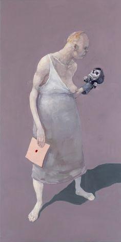 Michael Kvium Gravity Piece I 2005 200 x 100 cm Love Art, All Art, Skeleton Anatomy, Kunst Online, Real Monsters, Life Is Strange, Weird Art, Figure Painting, Museum
