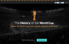 History of the World Cup - a curated non-commercial collection of information, resources and clips organized around all of the edition years of the soccer world cup. http://www.historyoftheworldcup.com/