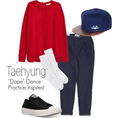 """Taehyung """"Dope"""" Dance Practice Inspired Outfit by mochimchimus on Polyvore featuring polyvore, H&M, Old Navy, Hanes, Converse, fashion, style, clothing and bts"""
