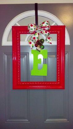 Repurposed picture frame. $4 at Habitat Restore!