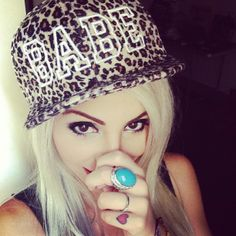Hat.. Also, cute ring <3