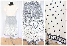 Vintage Skirt 1970 70s  Elegant  Fashion Size M Skirt With Lining Midi Unique Vintage Clothing Hipster Skirt