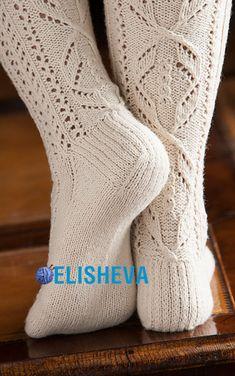 Ravelry: Lace Stockings pattern by Faina Goberstein Pokemon Crochet Pattern, Crochet Keychain Pattern, Crochet Mittens Free Pattern, Crochet Socks, Bead Crochet, Knitting Socks, Lace Patterns, Knitting Patterns, Knitting Ideas