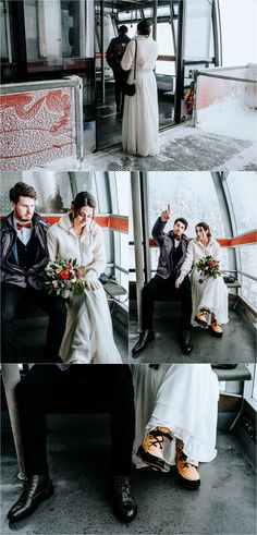 Bride and groom in the Dachstein Krippenstein cable car. Photos by Wild Connections Photography Snow Wedding, Dream Wedding, Wedding Day, Got Married, Getting Married, Moving To San Diego, Winter Wedding Inspiration, Intimate Weddings, Outdoor Ceremony