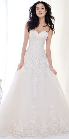 Ella Rosa BE404   luxurious embroidered lace ball gown   sweetheart neckline   romantic wedding gown #weddinggown #weddingdress