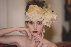 Vintage Inspired Headpiece / Headdress by cosmiksouls on Etsy, $390.00