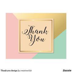 Thank you design postcard #thankyou #thankyoucard