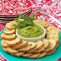 Guacamole Hummus - a delightful marriage - two favorite healthy snacks