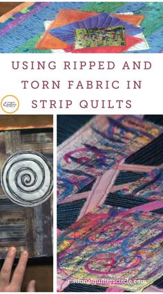 Are you afraid of ripping fabric? Torn or ripped fabric can make a great focal point for your quilts. In this video, Heather Thomas shares some tips for how to rip fabric correctly and ideas for incorporating the strip pieces in your quilt projects. With Heather's help, you can create gorgeous strip quilts with the added interest of ripped fabric. Quilting Tips, Quilting Tutorials, Hand Quilting, Machine Quilting, Quilting Projects, Quilting Fabric, Lap Quilts, Quilt Blocks, Halloween Fabric Crafts