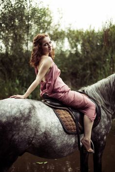 Equestrienne by Elvira Zakharova on 500px#on_horse #equestrienne #color #colorful #nature #woman #pre_raphaelite #preraphaelite #inspiration #spirit #sunset #water #rider #river #sexy #model #horse #golden_hour #fairy #fairie #nymph #wood #forest #fairy_tale #beauty #art #canon #godiva
