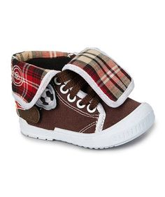 buy popular f243a 5efcf Another great find on  zulily! Dark Brown Fold-Over Hi-Top Sneaker