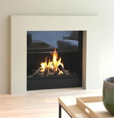 modern architecture - fireplace - metalfire - urban - gas-burning open fireplace