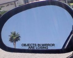 "(2) Mirror Decals "" OBJECTS IN MIRROR ARE LOSING"" for OLDSMOBILE 442 ALERO AURORA BRAVADA CUTLASS SUPREME EIGHTY-EIGHT INTRIGUE NINETY-EIGHT SILHOUETTE TORONADO GL DELTA 88 98 JETFIRE REGENCY ROYALE OMEGA HOLIDAY STARFIRE JETSTAR INDY HURST PACE CAR by oldsmobile. $4.99. 2 3/4"" decals"