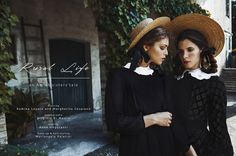 VULKAN MAGAZINE - RURAL LIFE an amish sisters' tale Photographer: Virginia Di Mauro Styling: Anna Negusanti Make up & Hair styling: Mariangela Palatini Model: Margherita Cesarano & Romina Lepore