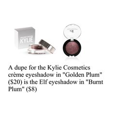 Dupe for kyshadow in Golden Plum from the Holiday Edition