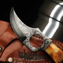 Engraved Whiteknuckler Knife - Tan