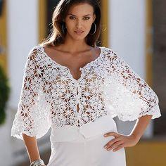 Crochet blouse      ♪ ♪ ... #inspiration_crochet #diy GB http://www.pinterest.com/gigibrazil/boards/