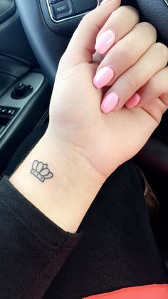 Small crown tattoo. #smalltattoo #crowntattoo #wristtattoo