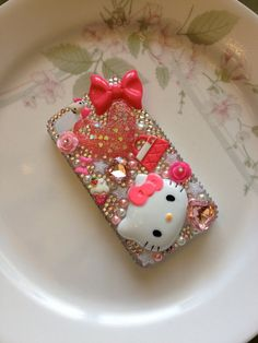 :) I love Hello Kitty! Bling Phone Cases, Cool Iphone Cases, Ipod Cases, Diy Phone Case, Cute Phone Cases, Pink Hello Kitty, Cute Cases, Decoden, Phone Covers