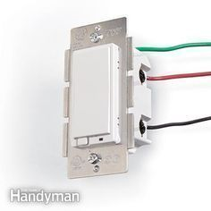 A light switch can be remotely controlled by a home automation network. - DIY Home Automation System Switch anything from anywhere http://www.familyhandyman.com/electrical/wiring/diy-home-automation-system/view-all #homeautomationlighting