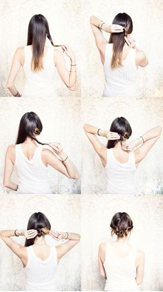 Looks easy enough! Hair Tutorial from http://joannagoddard.blogspot.com/search/label/hair