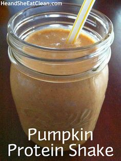 6 oz unsweetened almond milk 1/2 cup canned pumpkin (only ingredient should be pumpkin) 1 scoop vanilla protein powder 1/2 tsp cinnamon 1/4 tsp pumpkin pie spice 1/2 tsp pure vanilla extract (avoid HFCS) 1 scoop Kal pure stevia extract A few ice cubes Optional: 4 oz vanilla Greek yogurt Directions: Blend all ingredients together enjoy!