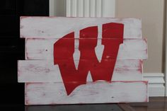 University of Wisconsin Badgers Distressed Wood by wintermountain, $32.00