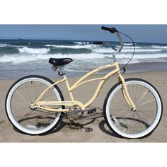 Urban Lady Beach Cruiser Bike in Vanilla -