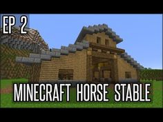 This is a creative series where we build huge structures that would be difficult to make in survival. This project we are working on is a minecraft horse sta. Minecraft Part 1, Minecraft Barn, Minecraft House Plans, Minecraft Castle, Minecraft House Designs, Minecraft Construction, Minecraft Blueprints, Minecraft Creations, Minecraft Projects