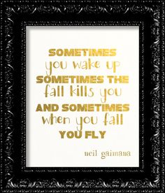 Neil Gaiman Stardust Sometimes Quote Art by TheRekindledPage, $9.98