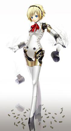 Persona 3 Aigis, Persona 5, Blue Da Ba Dee, Character Art, Character Design, Shin Megami Tensei Persona, Robots Characters, Lara Croft, Cool Girl