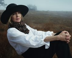"""vogue: """" Diane Keaton Photographed for the November Issue of Vogue by Annie Leibovitz Visit Vogue.com to read an excerpt from Ms. Keaton's new memoir, """"Then Again."""" """""""