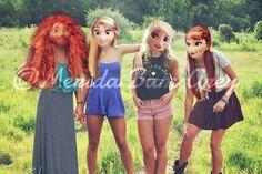 Xx_merida_frosty_xx shared by v. Disney Princess Fashion, Disney Princess Frozen, Disney Style, Modern Merida, Elsa, Modern Disney Characters, Frozen Pictures, Girly Drawings, Disney Songs