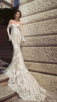 julie vino bridal spring 2017 long sleeves off shoulder sweetheat sheath lace wedding dress (camilla) mv long train