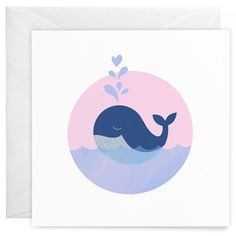 Whale Greeting Card – wunderbär: design & illustration by independent artists Diy Trend, New Product, Illustration, Whale, How To Find Out, This Is Us, Recycling, Creative