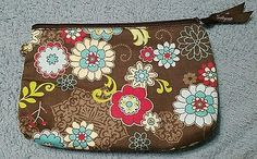 Thirty-One Mini Zipper Pouch FLORAL FANFARE New NWOT ~Retired
